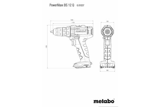 Metabo PowerMaxx BS 12 Quick akumulatorski vrtalnik/vijačnik (601037500)