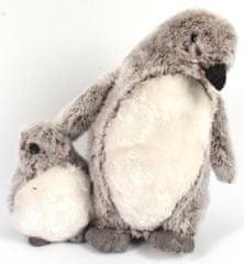 DUE ESSE božična dekoracija Pingvin z mladičkom, 25 cm