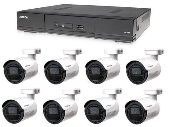 Avtech Komplet kamer 1x DVR DGD1009AV in 8x 2MPX Bullet kamera DGC1105YFT + 4x BREZPLAČEN napajalnik!