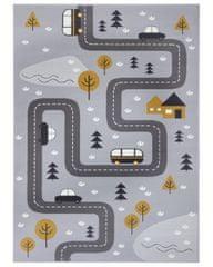 Hanse Home Detský koberec Adventures 104535 Grey/mustard 80x150