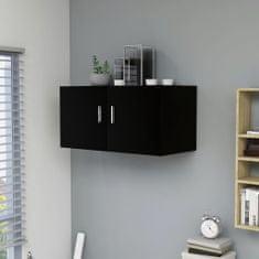 shumee Nástenná skrinka čierna 80x39x40 cm drevotrieska