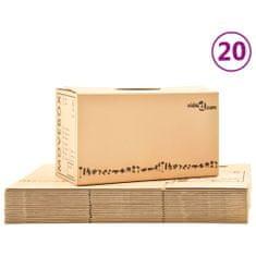 shumee Kartónové krabice na stěhování XXL 20 ks 60 x 33 x 34 cm