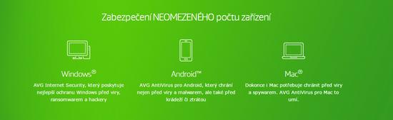 Antivirová ochrana AVG Internet Security - Unlimited (neomezen v počtu zařízení ) s platnou podporou na 24 měsíců (BOX)