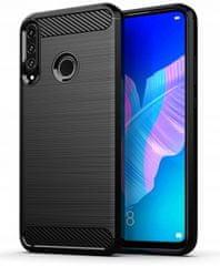 Ovitek za Huawei Y6p, silikonski, mat carbon črn