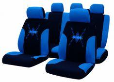Bottari Tribal komplet sedežnih prevlek, črno-modre