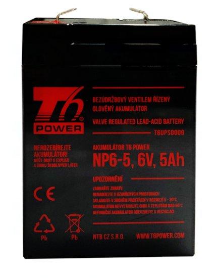 T6 power Akumulátor T6 Power NP6-5, 6V, 5Ah