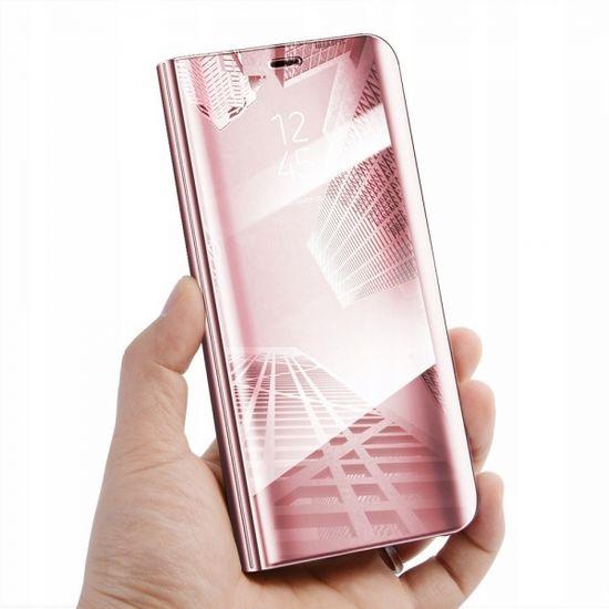 Onasi Clear View ovitek za Huawei P40 Lite, preklopni, roza