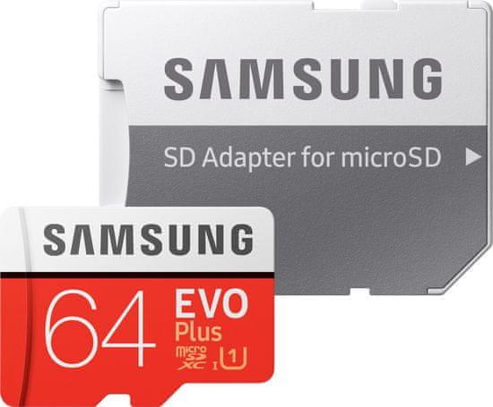 Samsung Karta micro SDXC 64GB EVO Plus + adapter SD (MB-MC64HA/EU)