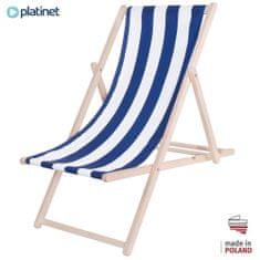 Platinet PSW lesen ležalnik, črtast, modro-bel