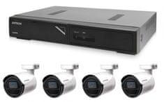 Avtech Zestaw kamer 1x NVR AVH1104 i 4x 2MPX IP Bullet kamera DGM2103SV + 4x kabel UTP 1x RJ45 - 1x RJ45 Cat5e 15m!
