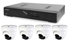 Avtech Zestaw kamer 1x NVR AVH1104 i 4x 2MPX Motorzoom IP Dome kamera DGM2443SVSE + 4x kabel UTP 1x RJ45 - 1x RJ45 Cat5e 15m!