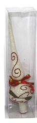 DUE ESSE božični okrasek - konica, bela, 24 cm