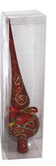 DUE ESSE božični okrasek - konica, rdeča, 24 cm