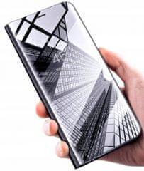Onasi Clear View ovitek za Huawei Y6p, preklopni, črn