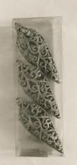 DUE ESSE komplet božičnih okraskov, srebrni, 16 cm, oblika 1, 3 kosi