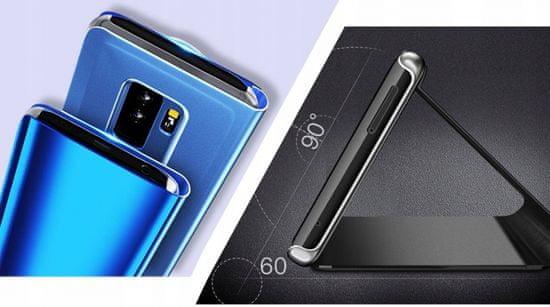 Onasi Clear View ovitekza Xiaomi Redmi Note 8 Pro, preklopni, črn