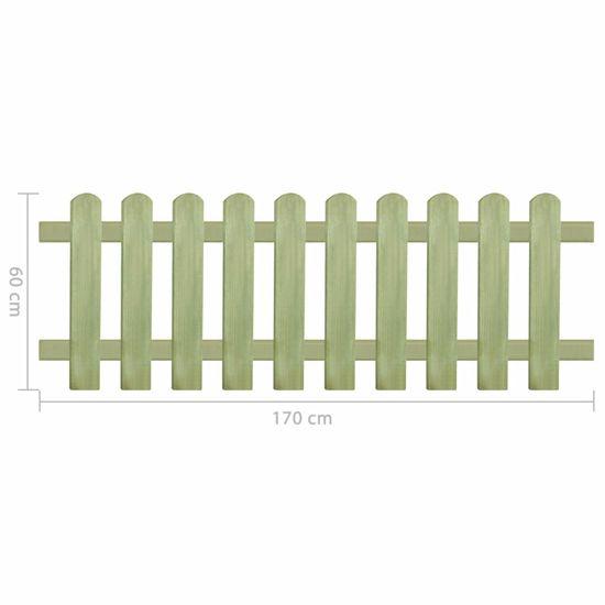 shumee Lesena ograja impregnirana borovina 170x60 cm 6/9 cm