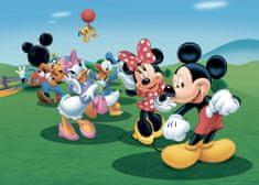 AG design fototapeta Mickey Mouse pleše s prijatelji, 156 x 112 cm, 4 kosi