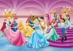AG design fototapeta ples Plesoče Disney Princeske 255 x 180 cm, 2 kosa