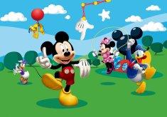 AG design fototapeta Mickey Mouse se igra s prijatelji, 360 x 254 cm, 4 kosi