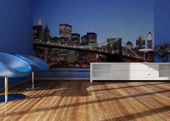 AG design fototapeta Most Brookliński o zachodzie słońca, 360 x 254 cm