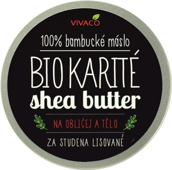 VIVACO BIO Bambucké máslo Karité na obličej a tělo 200 ml