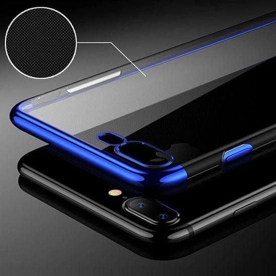 Elegance ovitek za Samsung Galaxy A71 A715, silikonski, tanek, prozoren z modrim robom
