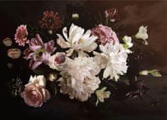 AG design fototapeta Kompozicija cvetja na temnem ozadju, 160 x 110 cm