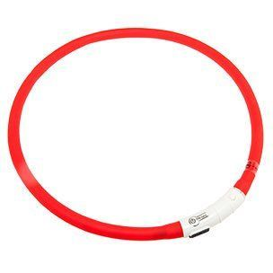 Karlie LED světelný obojek červený obvod 20 - 75 cm