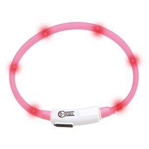 Karlie LED světelný obojek pro kočky růžový 20 - 35 cm