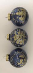 DUE ESSE komplet božičnih bunk, modre, Ø 8 cm, 6 kosov