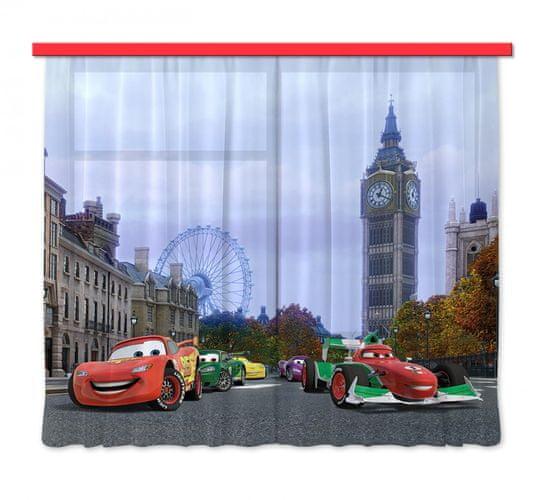 AG design zasłona Auta w Londynie, 180 x 80 cm, 2 szt.