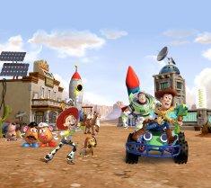 AG design zasłona bohaterowie Toy Story w mieście, 180 x 80 cm, 2 szt.