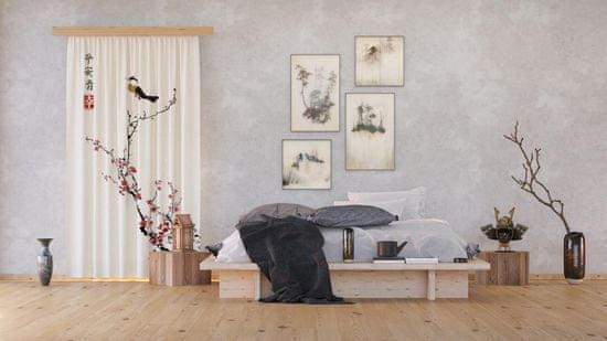 AG design Zasłona Japońska Sakura 140 x 245 cm 1 szt