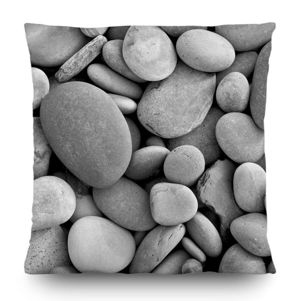 AG design Dekorativní polštář Kameny na pláži 45 x 45 cm
