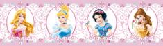 AG design Disney princese z medaljoni samolepilna obroba, 5 m x 14 cm