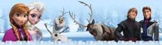 AG design Junaki Frozen v zimskem gozdu samolepilna obroba, 5 m x 14 cm