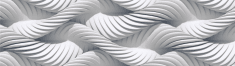 AG design samolepilni rob 3D bela pletena vrv, 5 m x 14 cm, bele
