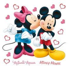 AG design Dekoračné nálepky Minnie a Mickey Mouse spolu Disney 30 x 30 cm
