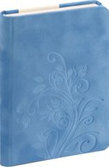 nb grafo Notes A5 črte trde platnice, 96 listov, 0289.17, Floral svetlo moder