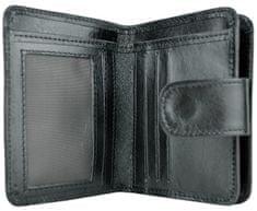 VegaLM Dámska malá kožená peňaženka v čiernej farbe
