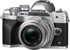 Olympus E-M10 Mark IV fotoaparat, srebrn + 14-42 EZ