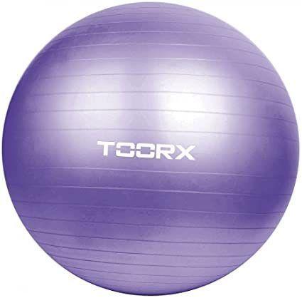 TOORX gimnastička lopta, 75 cm, ljubičasta