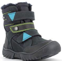 Primigi 6436233 fantovski zimski čevlji, črno-modri, 32
