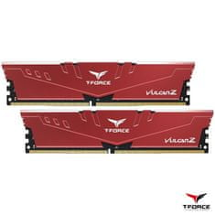 TeamGroup T-Force Vulcan Z pomnilnik (RAM), DDR4 16 GB (2x8GB), 3200 MHz, CL16, 1,35V, rdeč (TLZRD416G3200HC16CDC01)