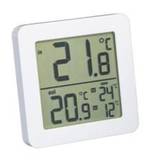Fackelmann termometer notranji/zunanji, 82 x 82 x 11 mm, bel