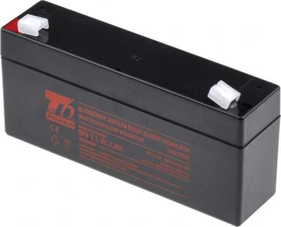 T6 power Akumulátor T6 Power NP6-3.3, 6V, 3,3Ah