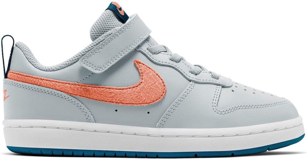 Nike dětská obuv Court Borough Low 2 BQ5451-009 31, šedá