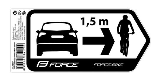 Force Nálepka SAFETY na auto 184 x 84 mm - černá