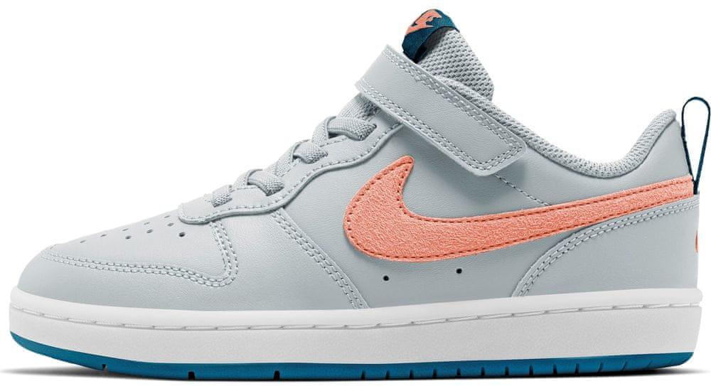 Nike dětská obuv Court Borough Low 2 BQ5451-009 32, šedá